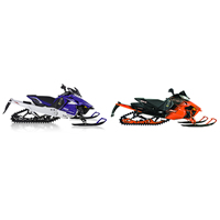 Photo of new 2014 Arctic Cat and Yamaha snowmobiles