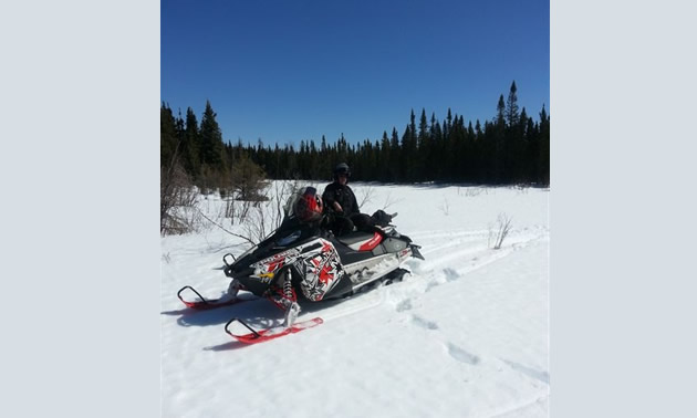 Peter Lewellin has been snowmobiling for 47 years and loves sledding around Hudson Bay, Saskatchewan.