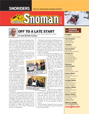 SNOMAN NEWSLETTER Spring 2015 Cover