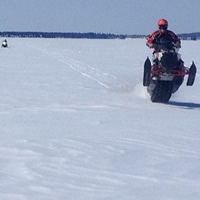 Photo of snowmobiler