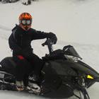 Jourdan Matkovich on her brand new 2013 Arctic Cat M8 in the Calazon riding area.