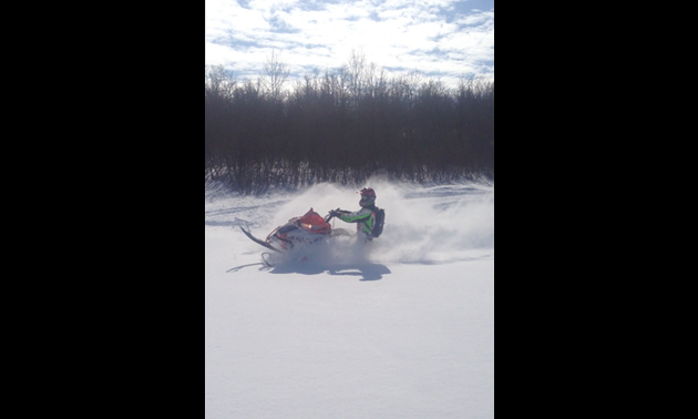 Ian Langley sledding in the beautiful Qu'Appelle Valley near Rocanville.