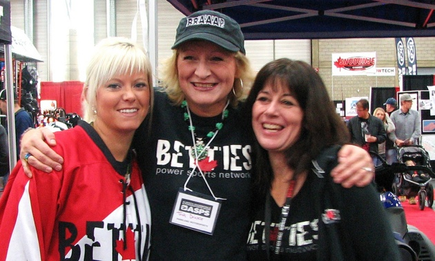 Adele Borys Trish Drinkle and Tamara Osborn were some of the Betties on site.