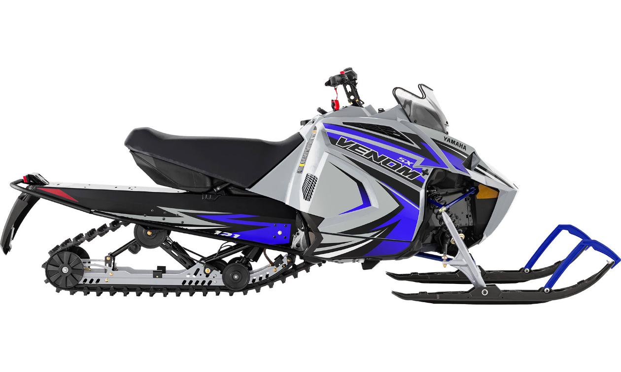 A grey and blue Yamaha 2022 SXVenom