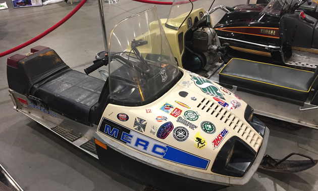 A vintage 1970's Mercury snowmobile.