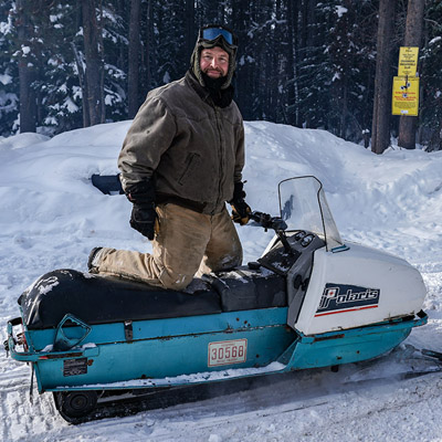 An 1970's vintage Polaris sled.