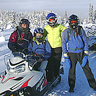A group of snowmobilers in Smithers, BC