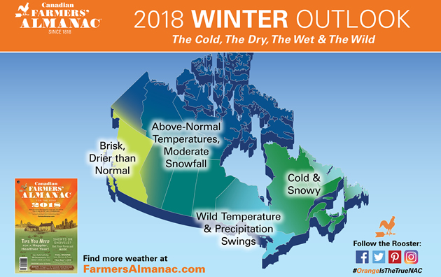 Canadian Farmers' Almanac releases forecast for winter 2017-2018 ...