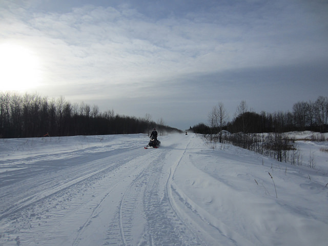 The Hudson Bay Straight Trail is found North of the town.