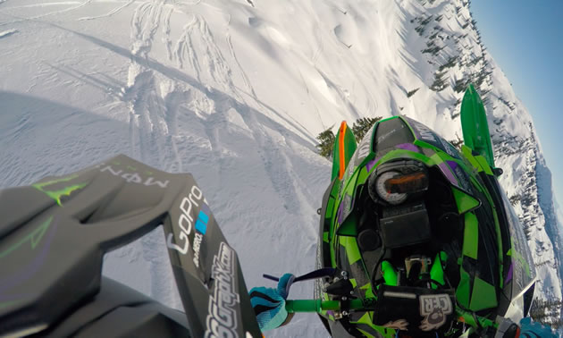 Brett Turcotte point of view helmet cam.