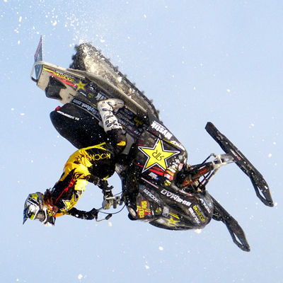 Colten Moore backflipping his sled.