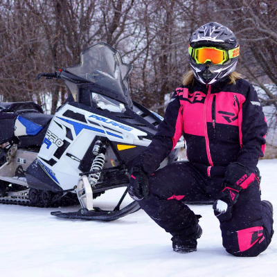 Charlene Isfeld logs up to 300 miles (483 kilometres) a day on her 2012 Polaris PRO-R Rush 600.