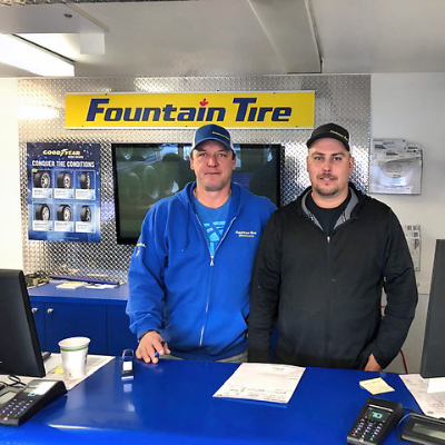 Come and talk to the friendly folks at Fountain Tire.