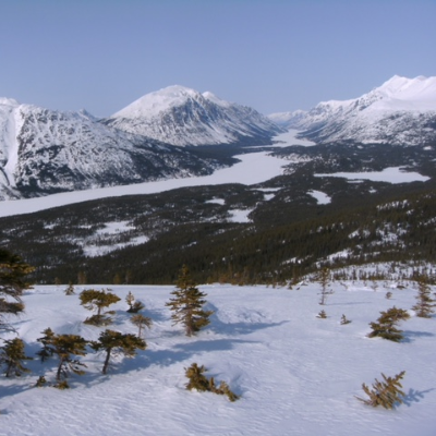 A view of Lindeman and Bennet from Log Cabin Mountain.