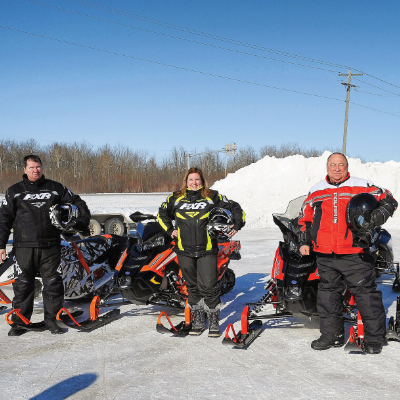 MLAs Shannon Martin, Sarah Guillemard, Dennis Smook and Greg Nesbitt  took part in the 3rd Annual Making Tracks ride on February 15, 2019.