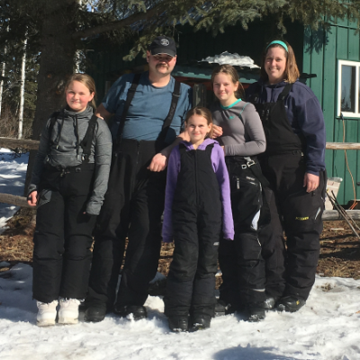 The Kiland family won the Alberta Snowmobile Association (ASA) Excellence Award for Outstanding Snowmobile Family; (L to R) Ava, Mitch, Maleah, Rachel and Joyce.