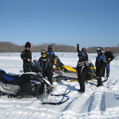 Members of the Saskatoon Snowmobile Club enjoy some of the great riding in the area.