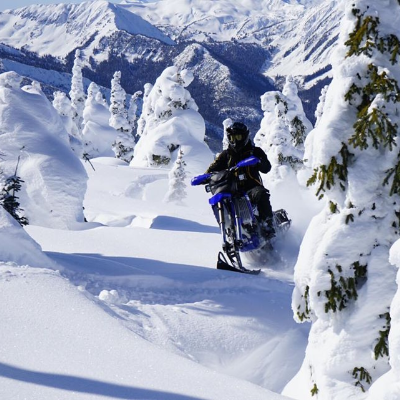 Backcountry snow biking in Valemount B.C.