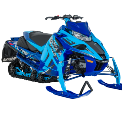 A stock photo of a blue Yamaha Sidewinder
