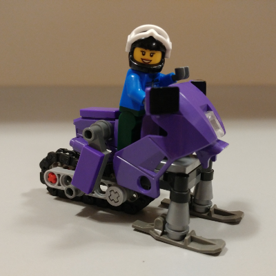 Adorable Lego snowmobile
