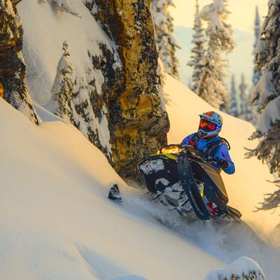 Carl Kuster sidehilling in Sicamous, B.C.