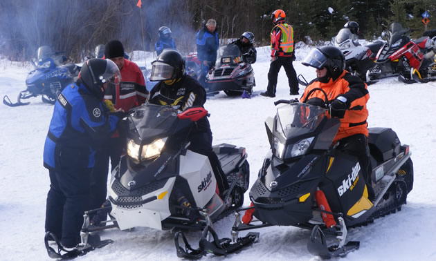 A large group of snowmobilers gathered for the SSA provincial festival.