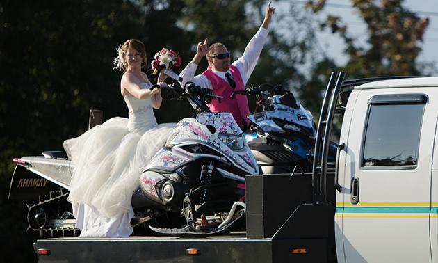 Megan and Shane Render at their wedding.