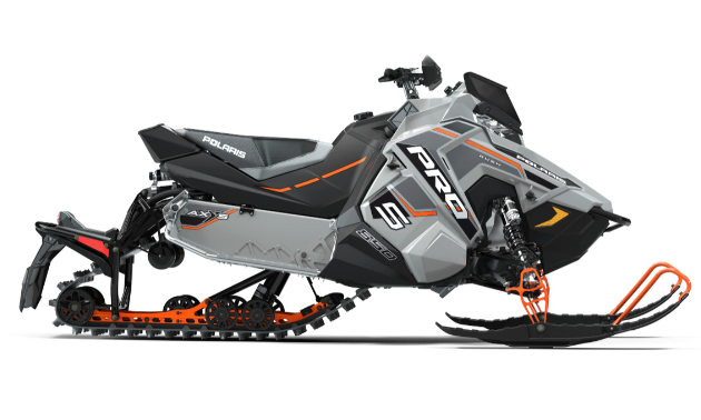RUSH PRO-S. For trail riders who demand the ultimate cornering and handling, the sleds of choice are the 2020 RUSH PRO-S models. They feature the AXYS Chassis with premium suspension and shocks, unrivaled acceleration and rider-centric comfort. These sleds are available with a choice of engines, including the 600 Cleanfire, the 800 Cleanfire H.O. and, exclusively through SnowCheck, the Polaris 850 Patriot.