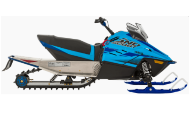 A youth-sized light blue 2020 Yamaha Snoscoot ES