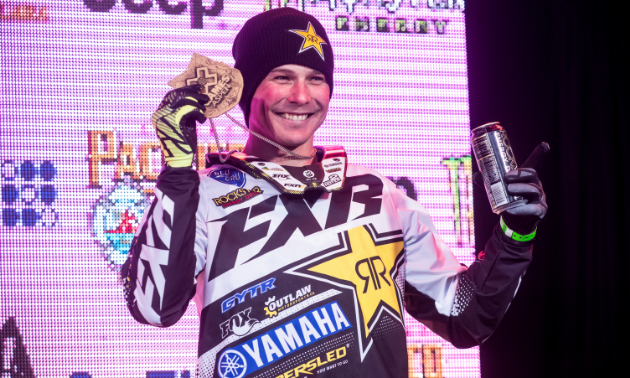 Another medal at X Games sure brings a smile to Brock Hoyer.