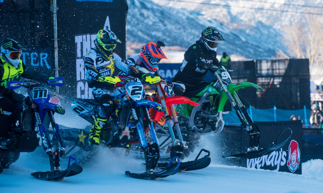 "The X Games' track this year was tight and ""one-lined … like a freight train."""
