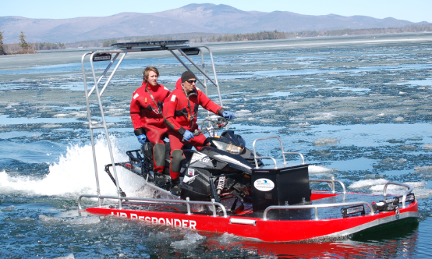 The air responder transitions seamlessly between ice and water.