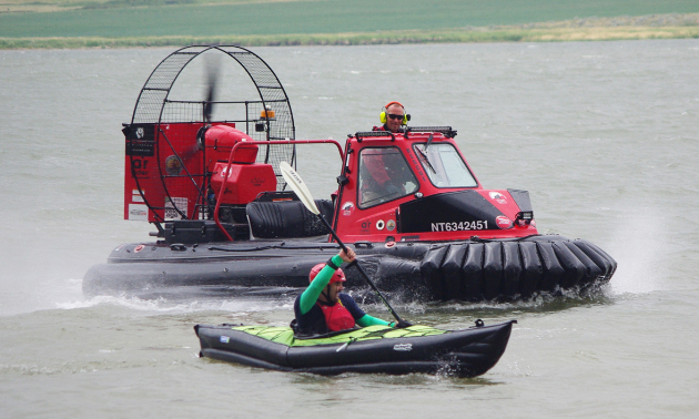 The AR45 can get close to other vessels and can be used over land, water or ice.