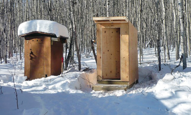 Bathroom facilities near the OOPS shelter.