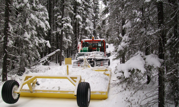 Flin Flon has some tight trails to navigate, but if a 1994 LMC 1800 with a three-metre-wide (10-foot) NTN draggroomer can make it, so can your snowmobile.