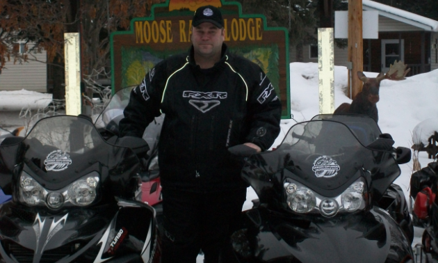 Dwayne Wenger is the Border Explorers Snowmobile Club co-ordinator and groomer operator.