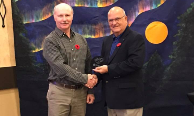 Jim Cottingham won the 2018 Canadian Council of Snowmobile Organization's National Excellence Award for Groomer Operator of the Year.