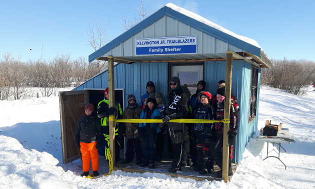 The Kelvington Junior Trailblazers built a family shelter together.