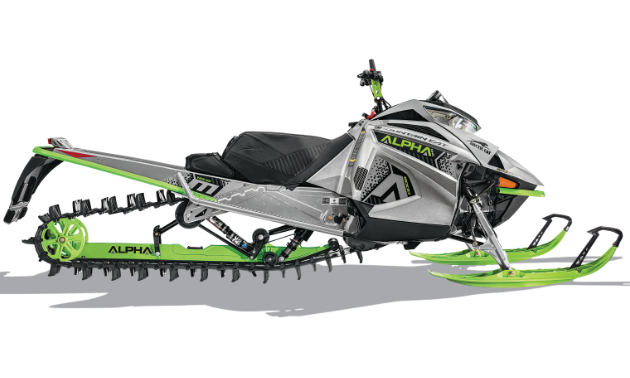 ALPHA ONE. The Mountain lineup features ALPHA ONE single-beam rear suspension for unbeatable maneuverability, making every move feel like second nature. Each Mountain snowmobile is built on the Ascender Platform to carve through deep stuff and side-hill with precision.