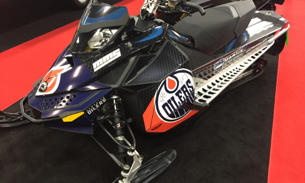 Oiler pride was on full display at the 2018 annual Alberta Snowmobile and Powersports Show. This sled was signed by a few of the greats.