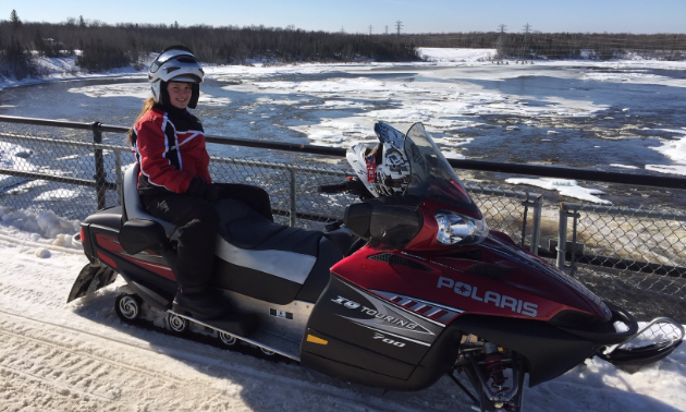 Peter Koehn and his daughter, Victoria (pictured), enjoy going for rides through the Pinawa and Lac du Bonnet areas in Manitoba.