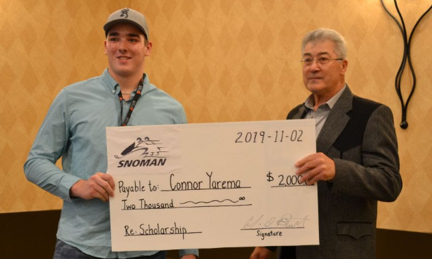 Snoman's AGM and 9th Annual Congress took place on November 1 and 2, 2019. The Snoman Scholarship for $2,000 was awarded to Connor Yarema from the Interlake Snow Trackers.