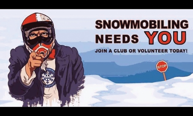 Snowmobiling poster