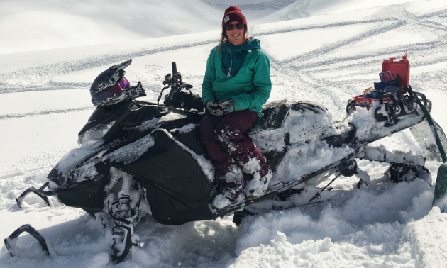 Brittney Dickson is the owner, lead instructor and coach for sled and touring camps at Stay Wild Backcountry Skills.