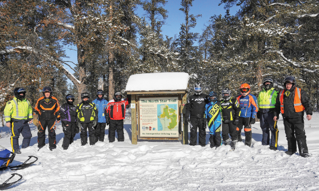 Snowmobilers on the North Star Trail enjoy a sober day of riding.