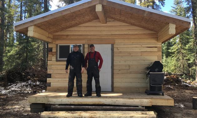 (L to R) Gary Mallay, Vice President, and Wayne Wheeler, President, at the Poplar Hills Shelter.