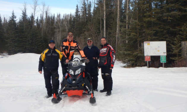 The Whitecourt Trailblazers enjoy a fun time on the trail.