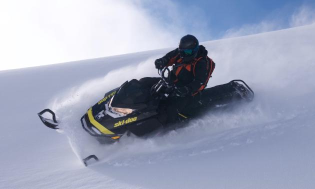 Dean Ingram rides a 2017 Ski-Doo Summit 850.