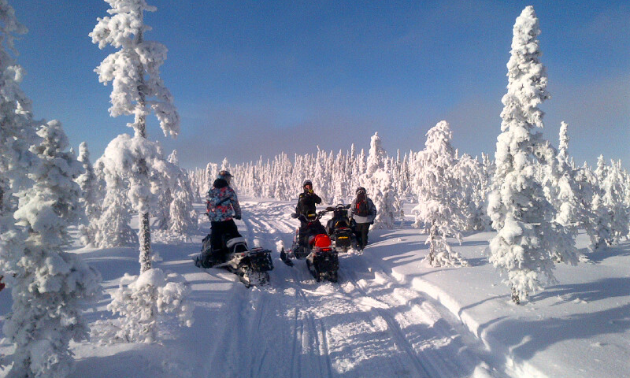 Riders enjoy some of the trails that are carefully maintained by the Hudson Bay Trail Riders.