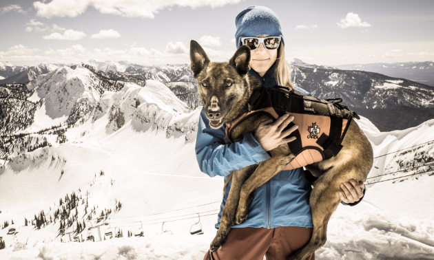 Jennifer Coulter and Pika, her Belgian Malinois